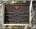 SO2800 : First World War 2018 Centenary plaque, Hanbury Road, Pontypool by Jaggery