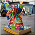 SJ8398 : Colourful Manchester Skyline Bee, St Ann's Square by David Dixon