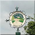 TG1216 : Attlebridge village sign by Adrian S Pye