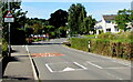 SO5012 : Warning sign - Patrol/Hebryngwr, Wonastow Road, Monmouth by Jaggery
