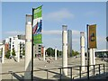 ST1974 : Cardiff Bay - Roald Dahl Square by Colin Smith