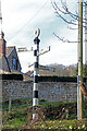 ST7897 : Pre-Worboys sign, Uley by Chris Allen