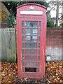 TQ0396 : Red K6 Telephone Box in Chorleywood by David Hillas