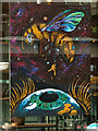 SJ8397 : 50 Windows of Creativity #40 - Manchester STEM Bee by David Dixon