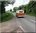 SO5934 : Volkswagen Camper Van stuck in the 70s, Fownhope, Herefordshire by Jaggery