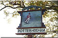 TG4119 : Potter Heigham village sign by Adrian S Pye