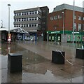 SJ9494 : A wet day on Hyde Market by Gerald England