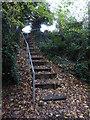 SO8755 : Steps on a public footpath by Chris Allen