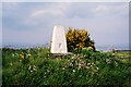 NH7465 : Trig point of Shoremill by Trevor Littlewood