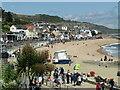 SY3391 : Lyme Regis - Cobb Gate Beach by Colin Smith