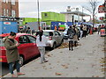 TQ2081 : Lockdown 2, post office queue socially distanced by David Hawgood