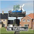 TM1686 : The Tivetshalls village sign by Adrian S Pye
