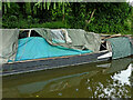 SO8584 : Sunken narrowboat (detail) near Kinver, Staffordshire by Roger  Kidd