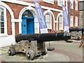 SX9192 : Exeter - Custom House - Cannon by Colin Smith