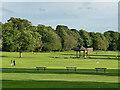 SE2338 : Centre of Horsforth Hall Park by Stephen Craven