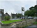 SE2337 : Jubilee Clock on Fink Hill, Horsforth by Stephen Craven