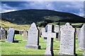 NJ2808 : Graveyard at Corgarff by Trevor Littlewood