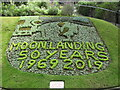 SU9949 : Guildford Castle - Flower Bed by Colin Smith