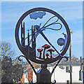 TG1022 : Booton village sign by Adrian S Pye