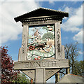 TF4807 : Emneth village sign by Adrian S Pye