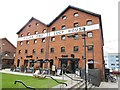 SO8218 : Gloucester Quays - Pillar and Lucy House by Colin Smith