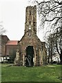 TF6219 : Greyfriars Tower on a grey day in King's Lynn by Richard Humphrey