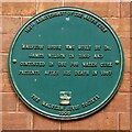 SO7745 : Green plaque on Malvern House by Philip Halling
