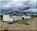 TQ6805 : Beach Huts at Normans Bay by PAUL FARMER