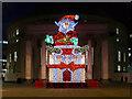 SJ8397 : Santa outside the Library by David Dixon