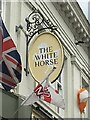 SK3536 : The sign of the White Horse by David Lally
