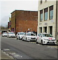 SS9079 : White taxis in Bridgend by Jaggery