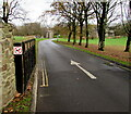 SS9380 : Road into the Coychurch Crematorium site by Jaggery