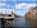SK3536 : Cathedral Green footbridge, Derby by habiloid