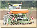 TQ0952 : West Horsley - Tractor by Colin Smith