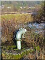 SK6342 : Standpipe, Stoke Bardolph sewage farm by Alan Murray-Rust
