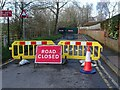 SO8540 : Road Closed by Philip Halling