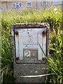 SH6267 : Hydrant marker at Tan-y-Gaer, Bethesda by Meirion