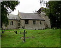 SO3412 : North side of St David's Church, Llanddewi Rhydderch, Monmouthshire by Jaggery
