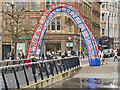 SJ8498 : Triple Arch at Piccadilly Gardens by David Dixon
