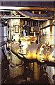 SU4924 : Twyford Pumping Station - pumps below the steam engine by Chris Allen