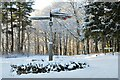 NT2741 : Buzzard's Nest car park in winter, Glentress Forest by Jim Barton
