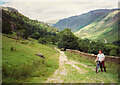 NY4805 : On the byway from Sadgill to Kentmere by Humphrey Bolton