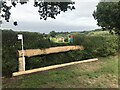 SJ8165 : Cross-country fence at Somerford Park Horse Trials by Jonathan Hutchins