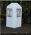 NY4659 : Milestone, by the B6264, NE of Crosby House by Terry Moore