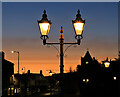 NT4936 : Lamps in Bank Street Gardens, Galashiels by Walter Baxter