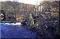 SD9926 : Derelict waterwheel house at Mayroyd by Chris Allen