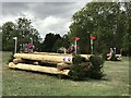 SP4415 : Cross-country fences 14A and B at Blenheim Horse Trials by Jonathan Hutchins