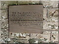 SO3710 : Board dated 1926, Llanarth, Monmouthshire by Jaggery