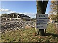 SJ8644 : Sign promoting future car park on demolition site by Jonathan Hutchins