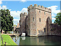 ST5545 : The moat and gatehouse, The Bishop's Palace, Wells by habiloid